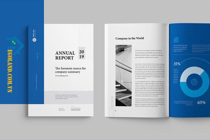 Mẫu Annual report không khiến người thiết kế phải bị gò bó trong khuôn mẫu ý tưởng