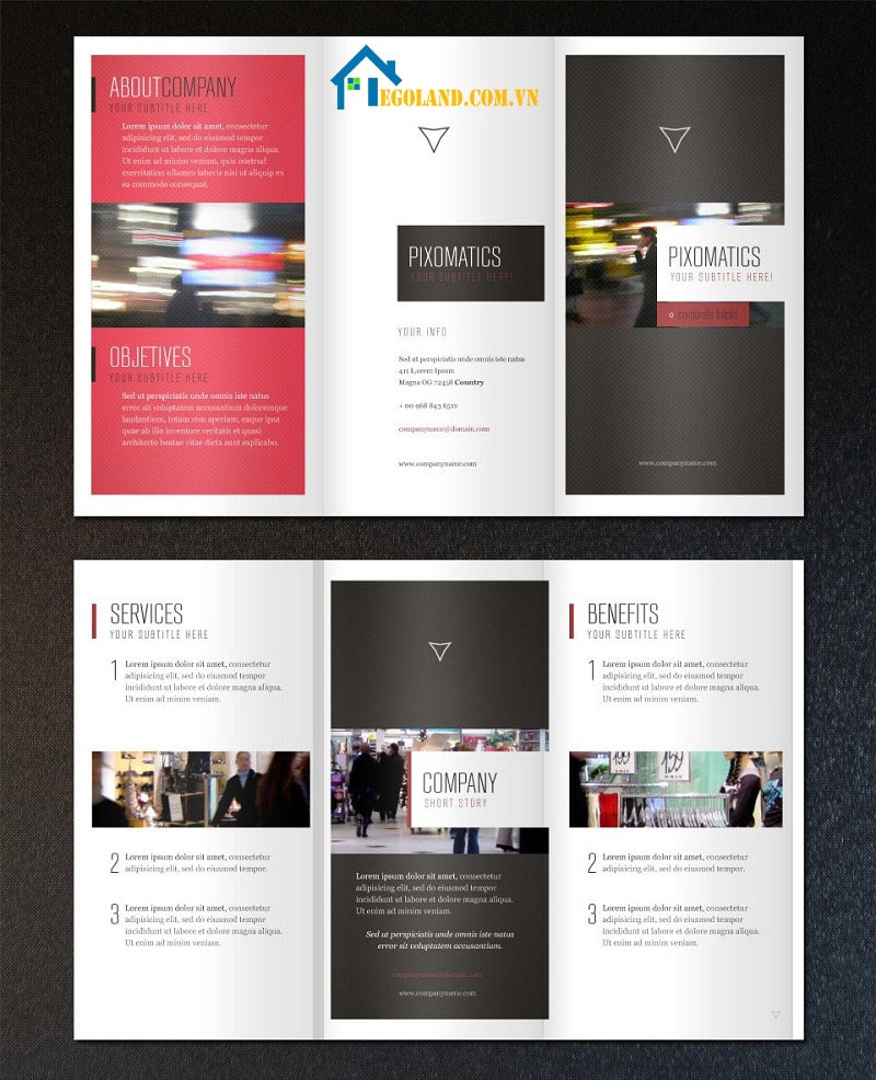 Mẫu Tri - fold - Template brochure