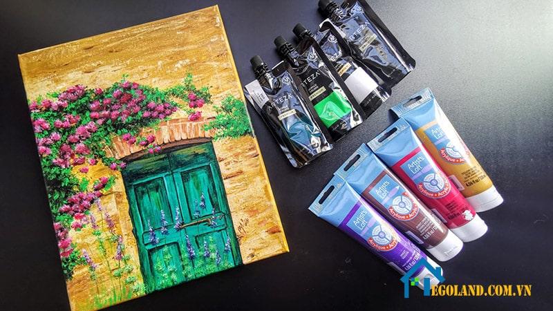 Màu acrylic giúp tạo nên những bức tranh có màu sắc sinh động