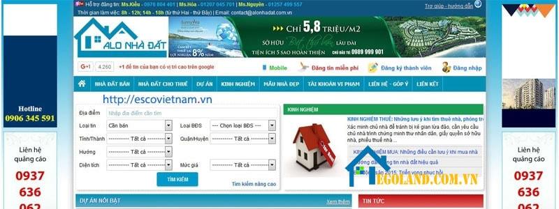 Người dùng có thể truy cập dễ dàng để tìm kiếm những sản phẩm cũng như các thông tin hữu ích nhất về thị trường bất động sản