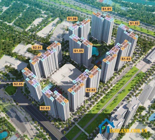 Tòa chung cư Vinhome smart city