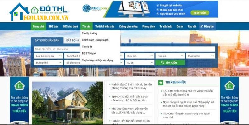 Dothi.net - trang web mua bán nhà đất uy tín tại Việt nam