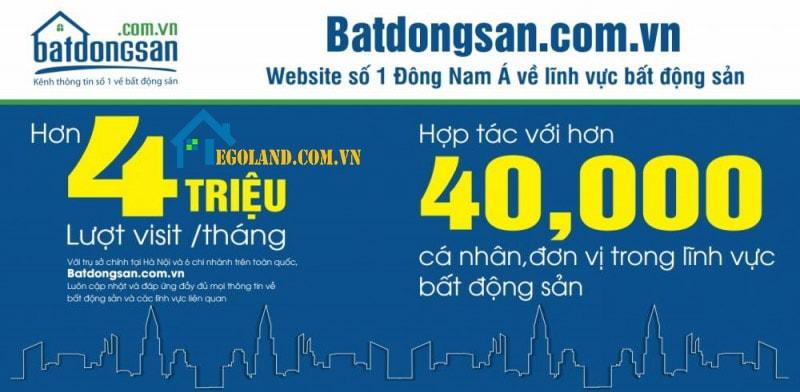 Website Bất động sản là trang web mua bán nhà đất hàng đầu của Việt Nam