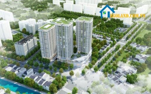 Bức ảnh tổng quan về chung cư Iris Garden được đặt tại Hà Nội