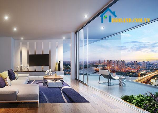Logia là bộ phận âm ở tường nhà và có thiết kế khoét sâu nên sẽ tạo với tổng thể căn nhà một khối thống nhất