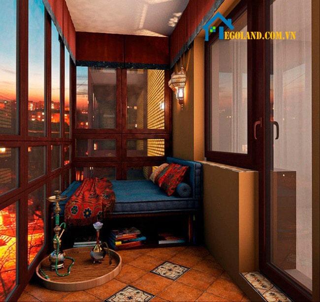 Mẫu ban công thiết kế như phòng ngủ phụ