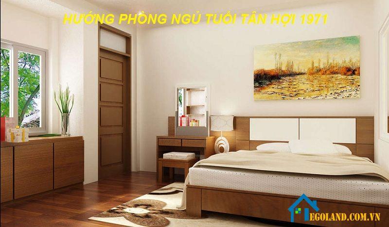 Hướng phòng ngủ tốt cho tuổi Tân Hợi 1971