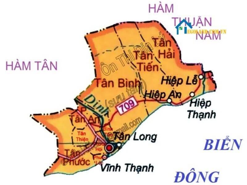 Bản đồ Bình Thuận về địa lý