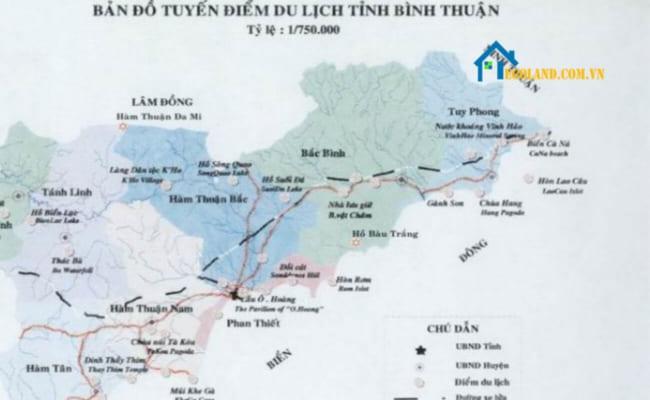 Bản đồ Bình Thuận về du lịch
