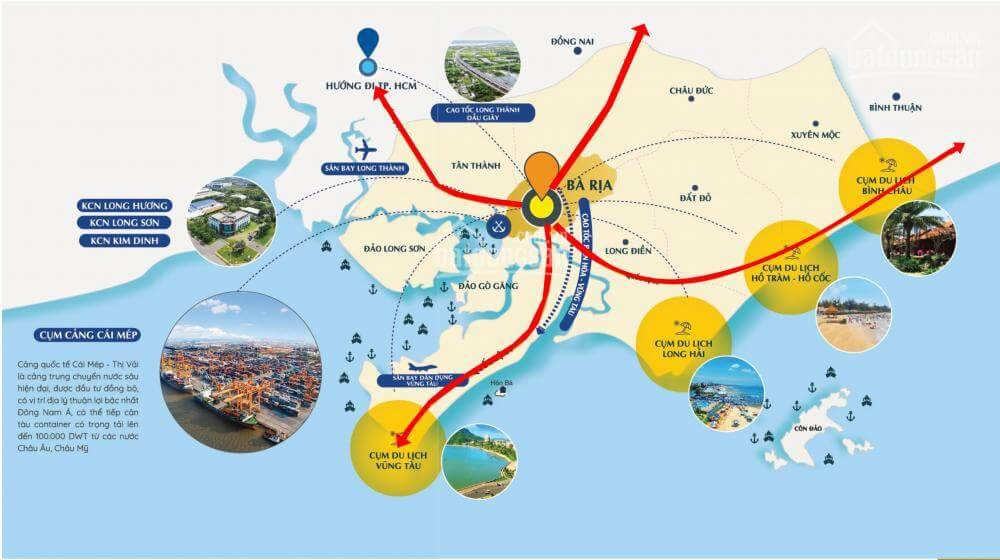 Bản đồ giao thông Bà Rịa - Vũng Tàu