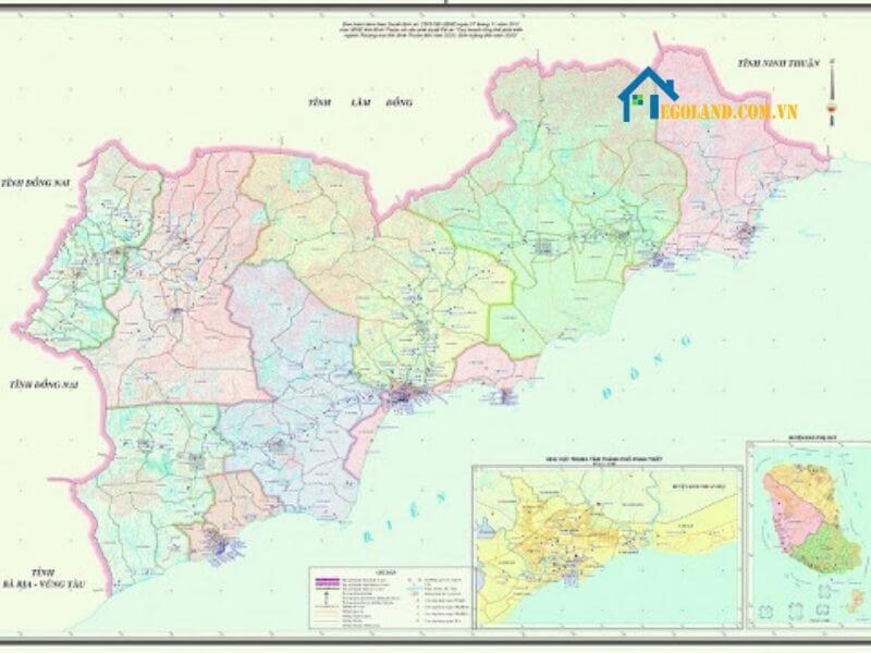 Bản đồ Bình Thuận về giao thông