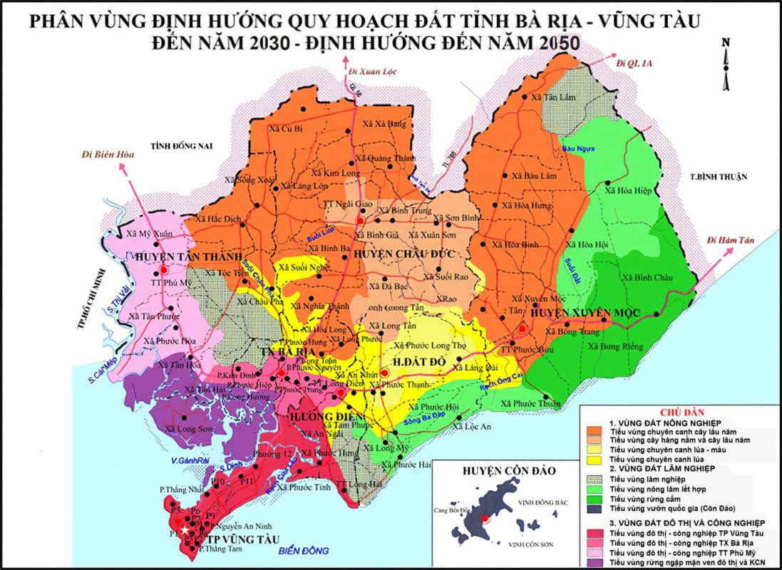 Bản đồ quy hoạch và sử dụng đấtBà Rịa - Vũng Tàu