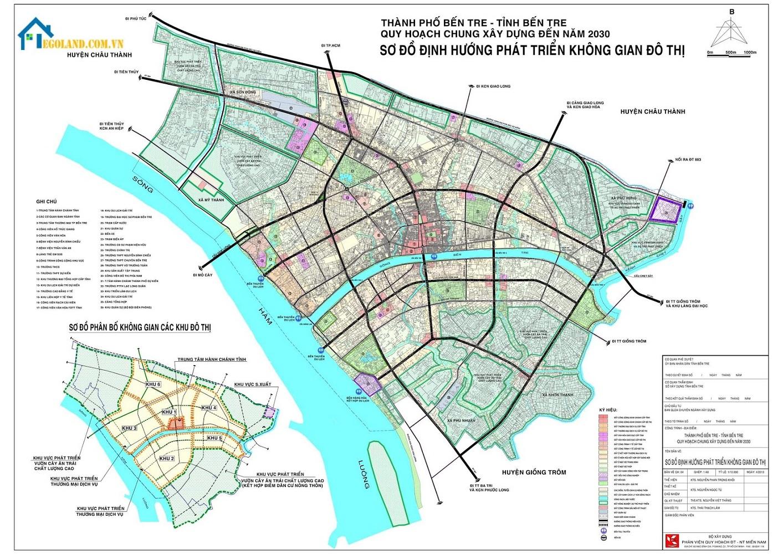 Bản đồ bến tre về quy hoạch đất