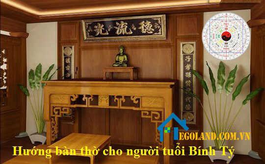 Hướng đặt bàn thờ cho gia chủ tuổi Bính Tý