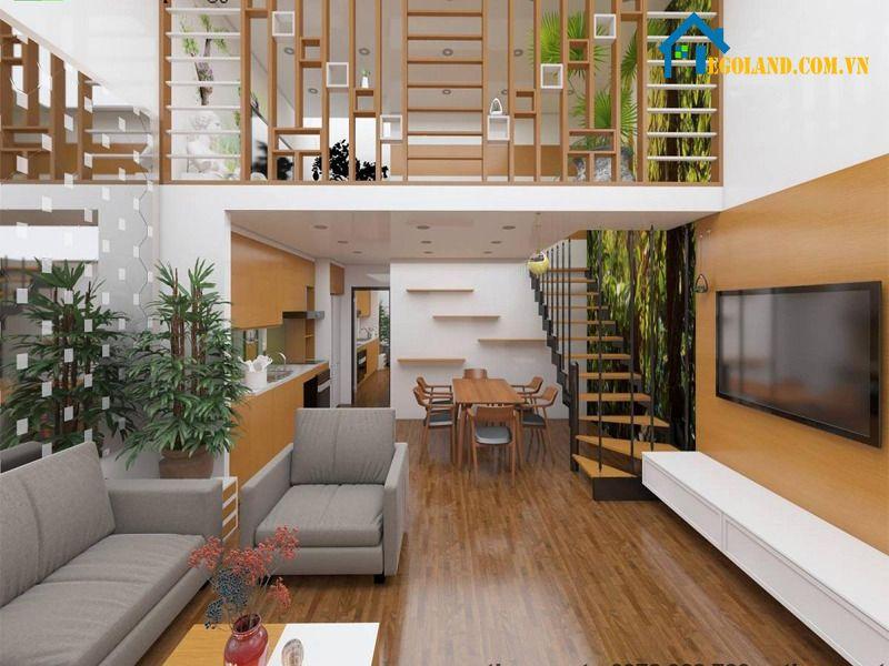 Cải tạo sàn phòng khách với chất liệu gỗ đầy hiện đại