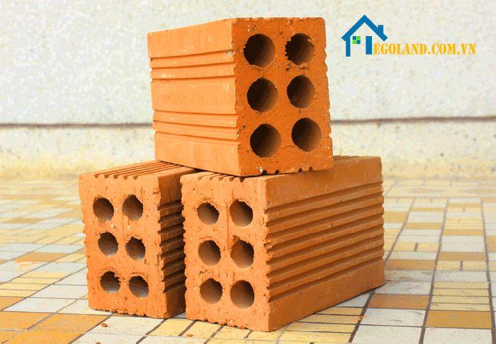 Gạch 6 lỗ là một dạng gạch nung được dùng trong xây dựng