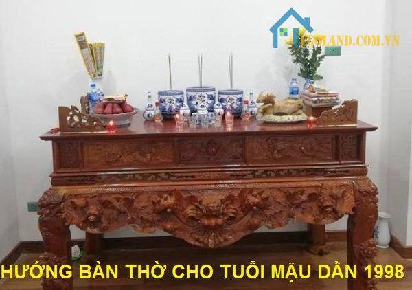Hướng bàn thờ tốt cho tuổi Mậu Dần