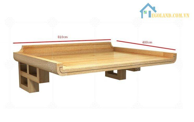 Kích thước bàn thờ để treo tường dựa trên phong thủy