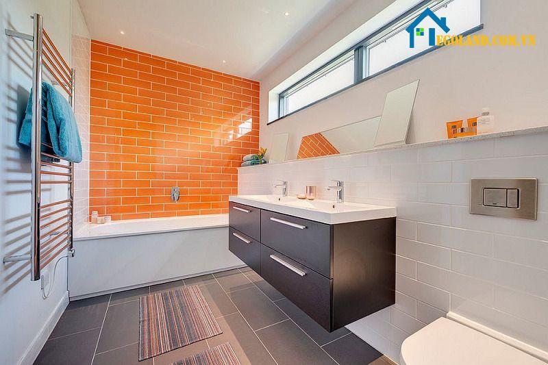 Kiểu thiết kế phòng tắm này cũng rất hiện đại, tối giản cho những căn nhà có diện tích hạn chế