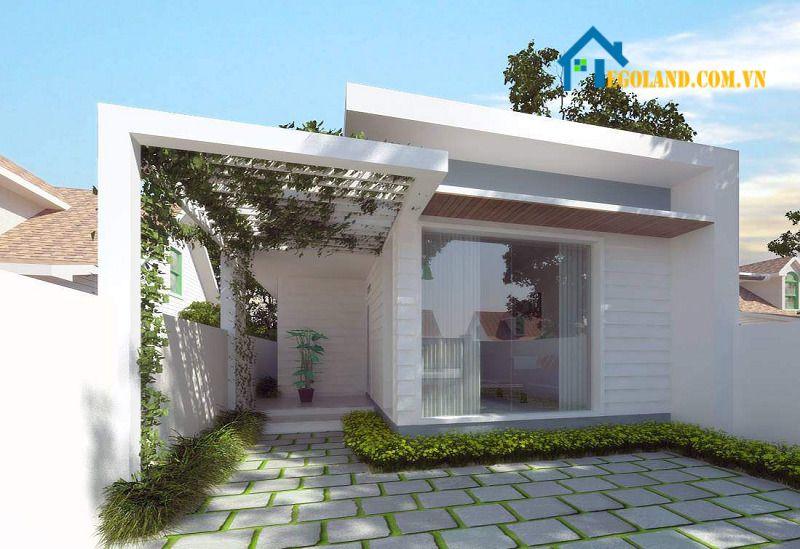 Mẫu nhà cấp bốn đơn giản kèm sân vườn ẩn chứa nhiều điểm tinh tế
