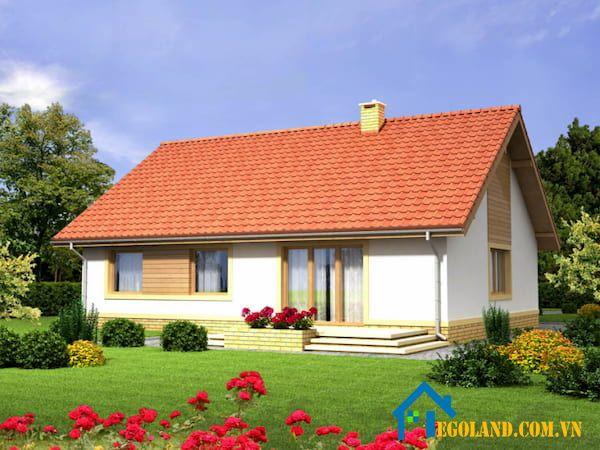 Mẫu thiết kế nhà cấp 4 mái ngói nhỏ xinh thích hợp với những gia đình đông người ở nông thôn