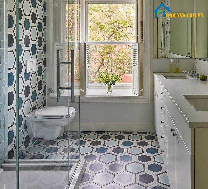 Thiết kế phòng tắm này phù hợp với những gia đình có diện tích nhỏ