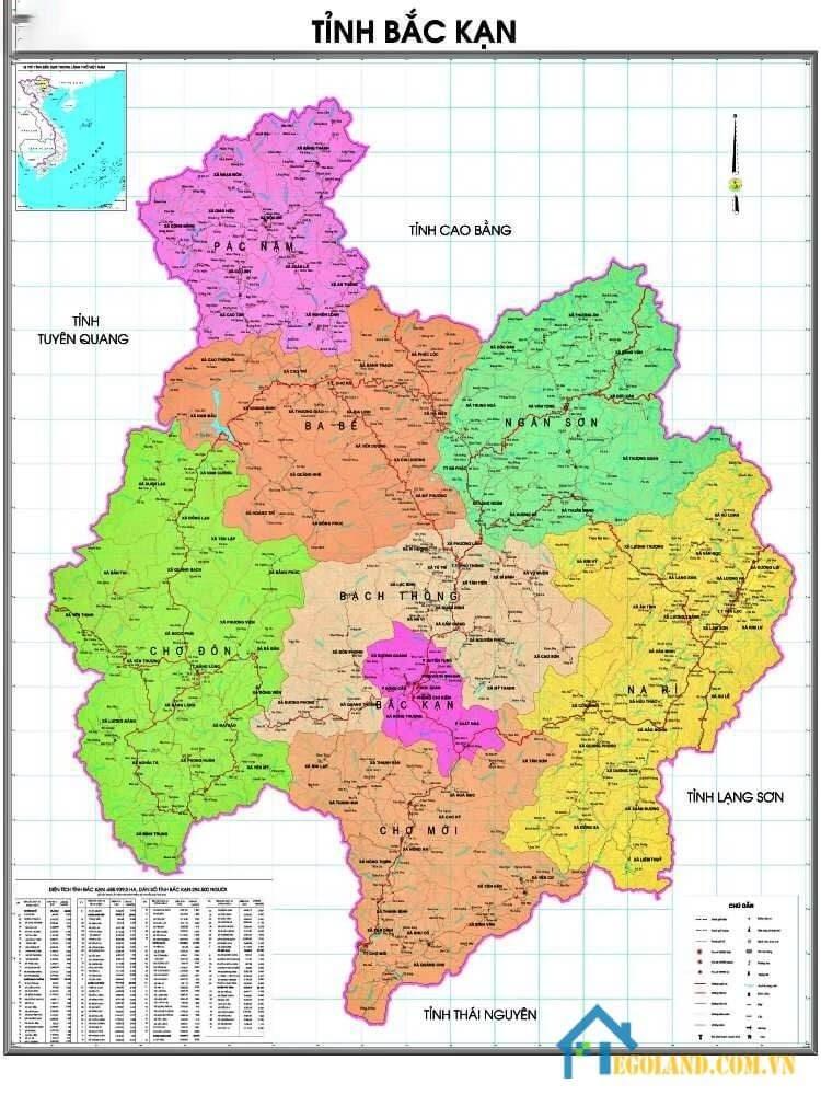 Bản đồ Bắc Kạn