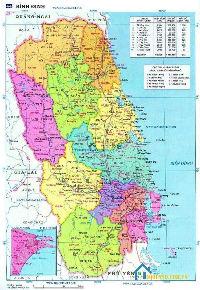 Bản đồ Bình Định