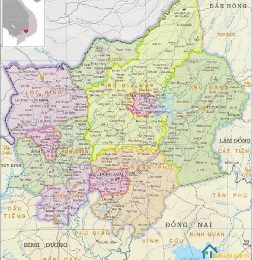 Bản đồ Bình Phước