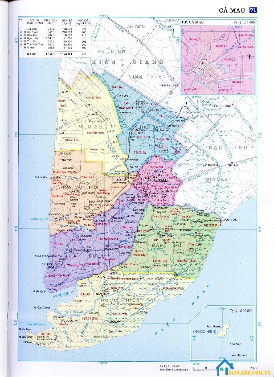 Bản đồ Cà Mau