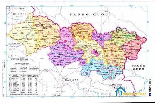 Bản đồ Cao Bằng