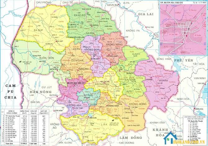 Bản đồ Đắk Lắk