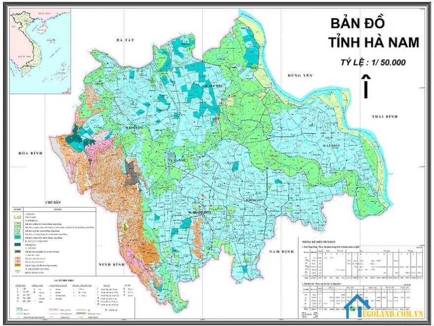 Bản đồ Hà Nam về địa lý