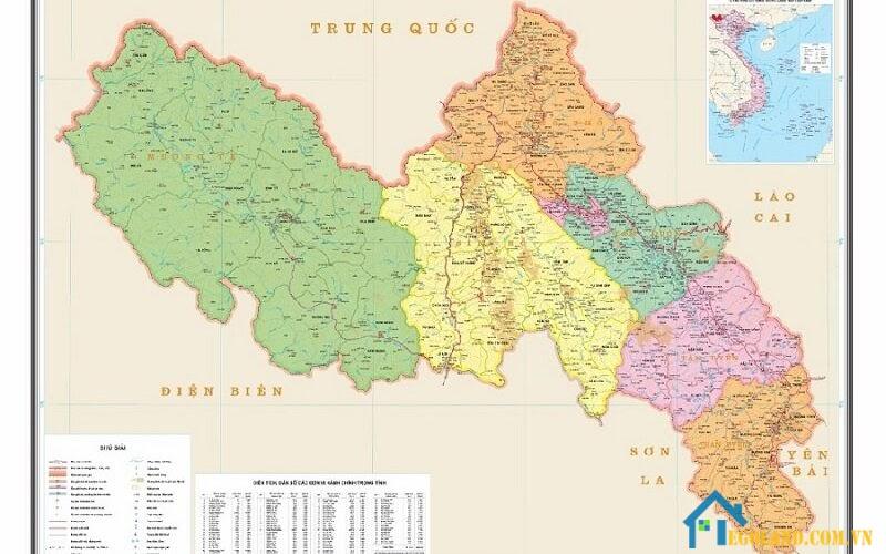 Bản đồ Lai Châu về địa lý