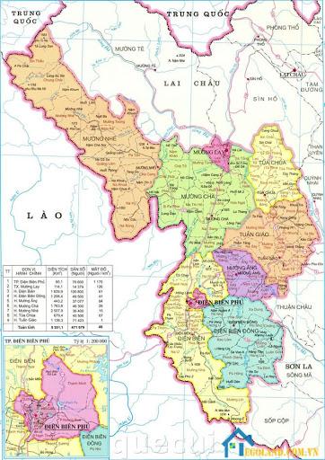 Bản đồ Điện Biên