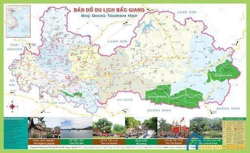 Bản đồ Bắc Giang về du lịch