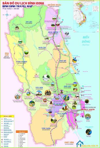 Bản đồ Bình Định về du lịch
