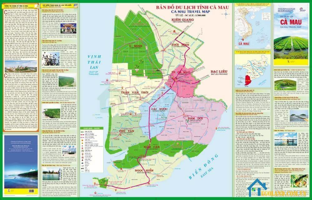 Bản đồ Cà Mau về du lịch