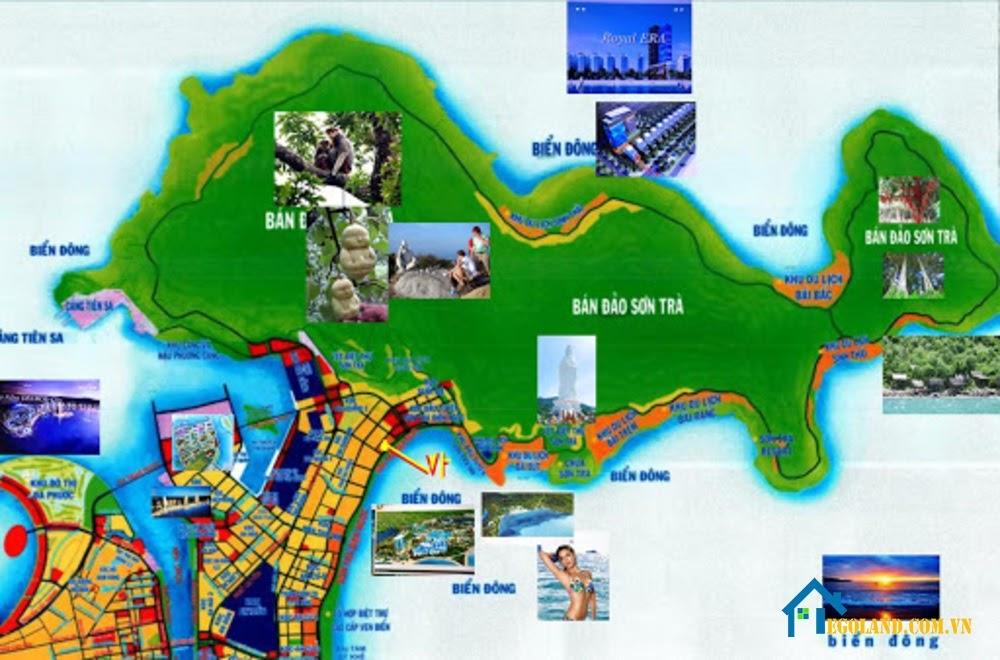 Bản đồ Đà Nẵng về du lịch
