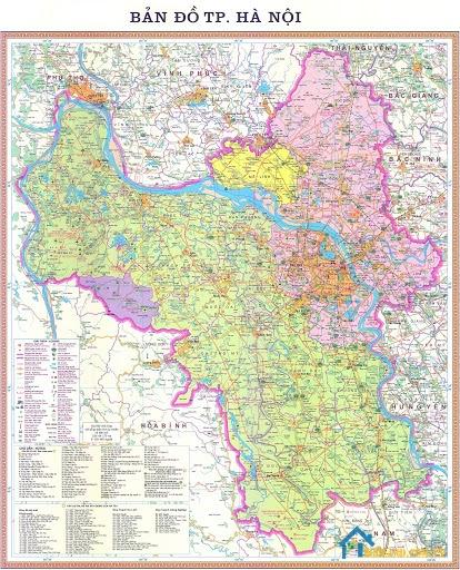 Bản đồ Hà Nội về du lịch