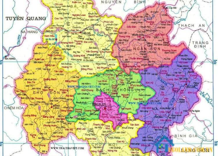 Bản đồ Bắc Kạn về du lịch