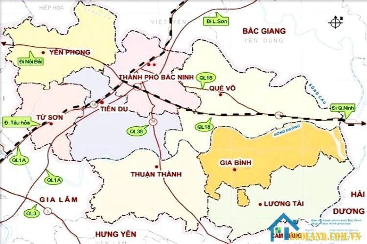 Bản đồ Bắc Ninh về du lịch