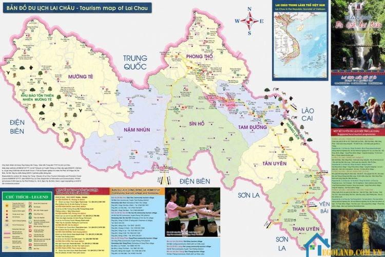 Bản đồ Lai Châu về du lịch