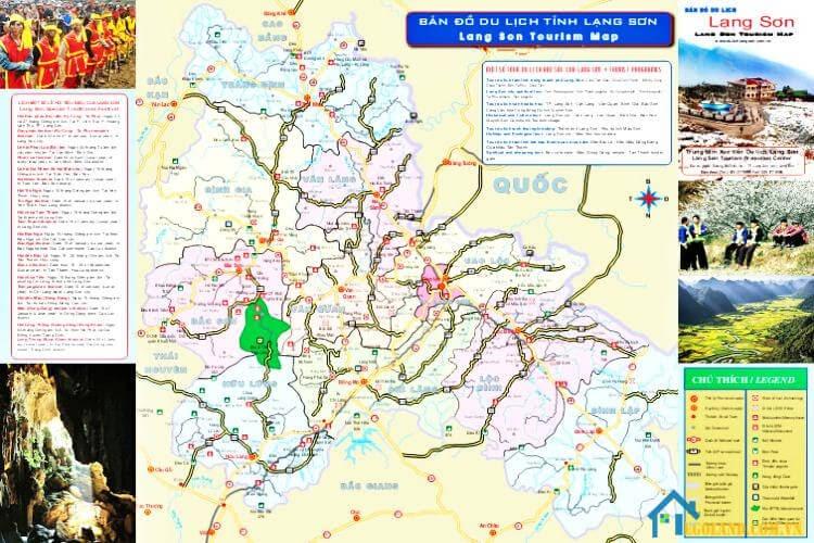 Bản đồ Lạng Sơn về du lịch