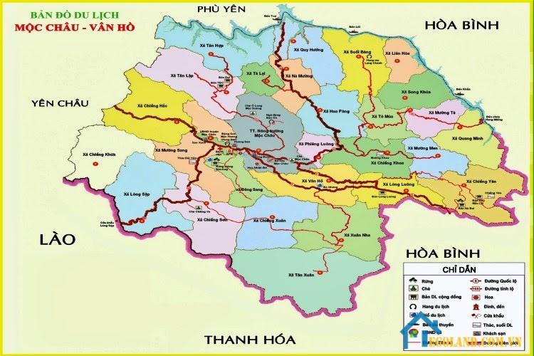 Bản đồ Sơn La về du lịch