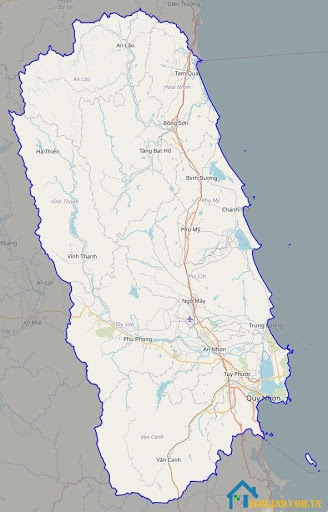 Bản đồ Bình Định về giao thông