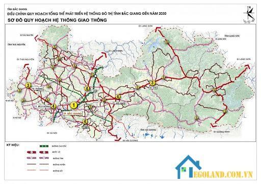 Bản đồ Bắc Giang về giao thông