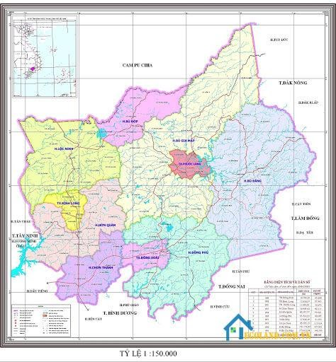Bản đồ Bình Phước về giao thông