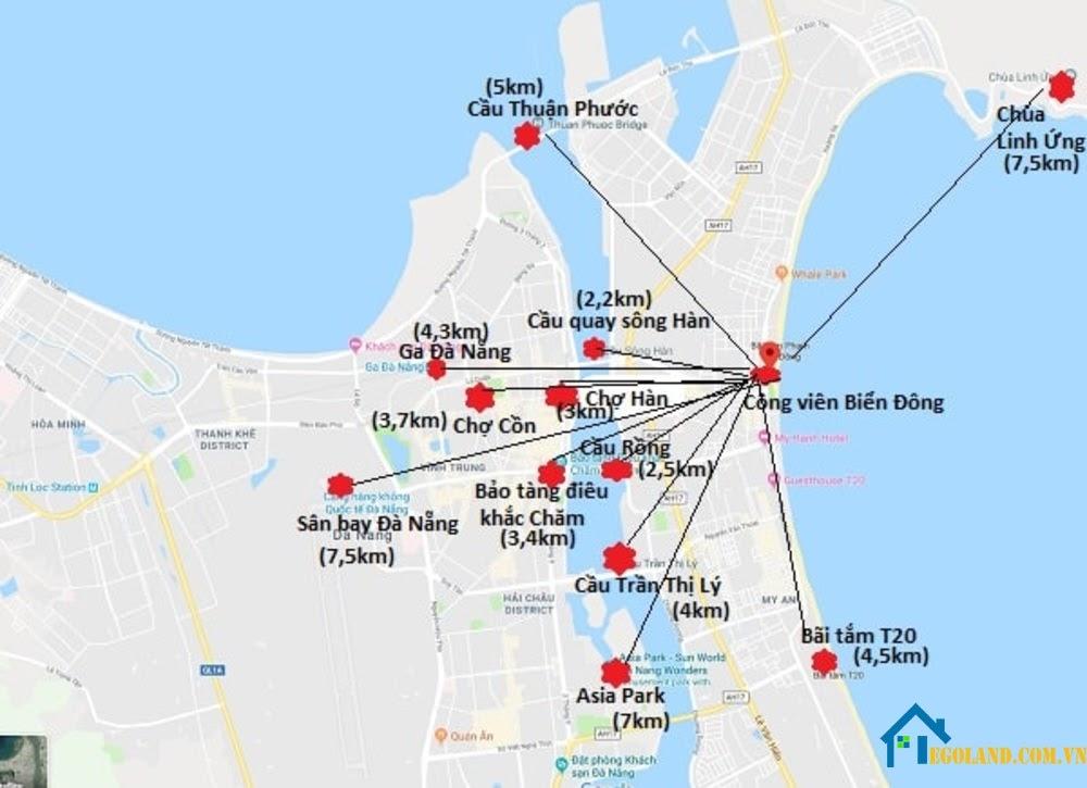 Bản đồ Đà Nẵng về giao thông