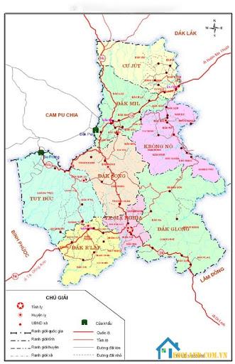 Bản đồ Đắk Nông về giao thông
